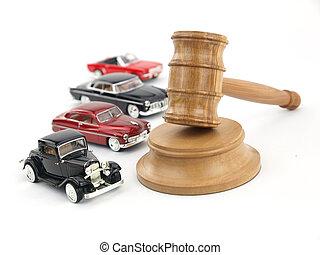 marteau, enchère, voitures