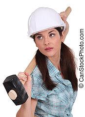 marteau forgeron, femme