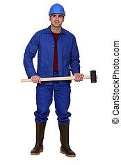 marteau forgeron, homme