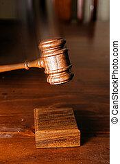 marteau, frapper, décision, fait, juges