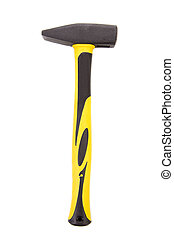 marteau, jaune, handle.