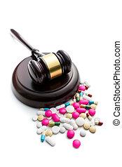 marteau, juge, pilules