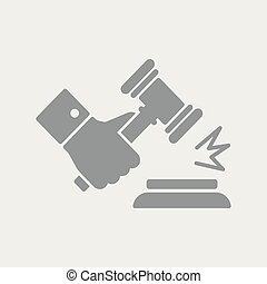 marteau, jugement, geste