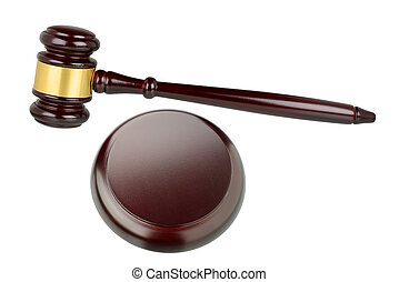 marteau, juges, isolé