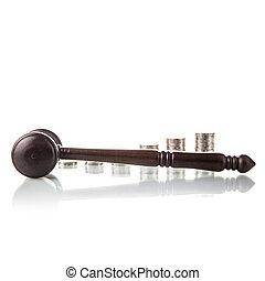 marteau, juges, pièces, droit & loi