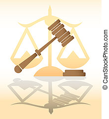 marteau, justice, -, illustration, juge, droit & loi
