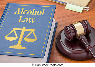 marteau, livre, -, alcool, droit & loi