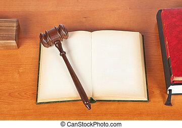 marteau, livre, droit & loi, bois