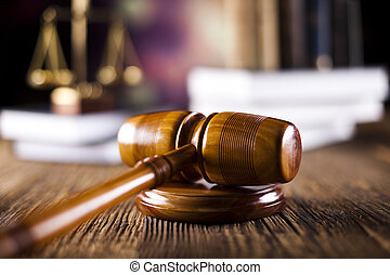 marteau, livres loi, légal