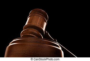 marteau, noir, juges, tribunal, fond