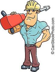 marteau-piqueur, ouvrier