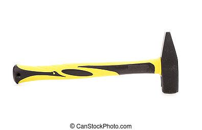 marteau, poignée, jaune