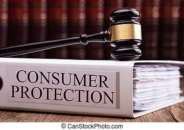 marteau, sur, consommateur, protection, dossier