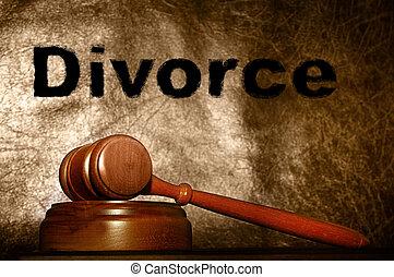 marteau, texte, légal, divorce