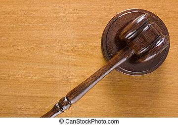 marteau, utilisé, dans, tribunal