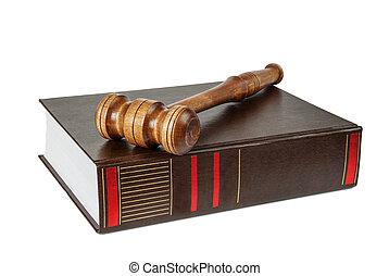 martelletto, legno, soundblock, libro, spesso