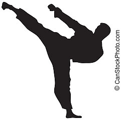 Martial Art - Abstract vector illustration of martial art ...