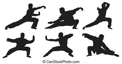 Martial art - Abstract vector illustration of martial art ...