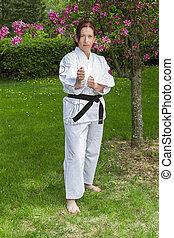 Martial art woman