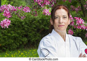 martial artist woman