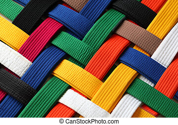 Martial Arts Belts - Colorful of martial arts belts rank...