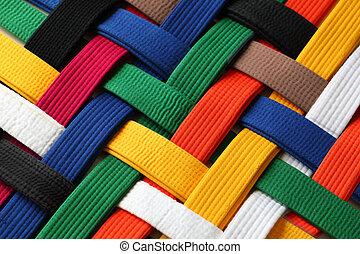 Martial Arts Belts - Colorful of martial arts belts rank...