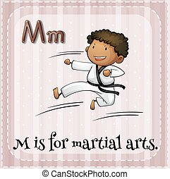 Martial arts - Flashcard letter M is for martial arts