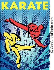 martial arts karate fight