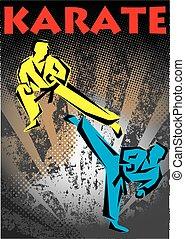 martial arts karate poster