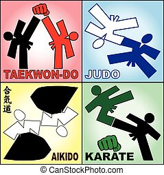 Martial arts karate, taekwondo,judo - Martial arts karate,...