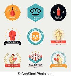 Martial arts labels and badges