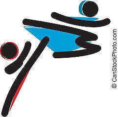 Martial arts logo - a martial arts of fighting men