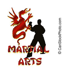 Martial Arts Logo Graphic isolated - Martial Arts...