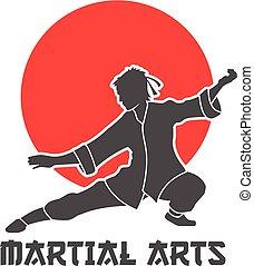 Martial Arts Logo Illustration - Martial arts logo in...