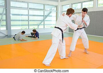 martial arts practise