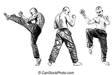 martial arts trio