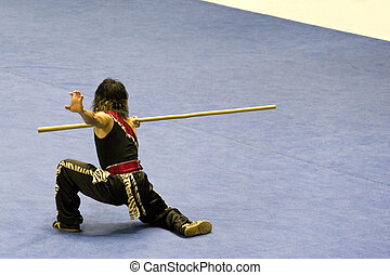 martial arts, (wushu), chinees