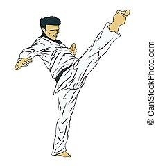 martial, taekwondo., art