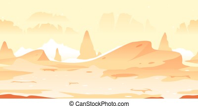 Martian craters game background - Small Martian craters with...