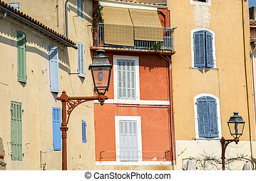 Martigues (Bouches-du-Rhone, Provence-Alpes-Cote d'Azur, France): old typical street with colorful houses