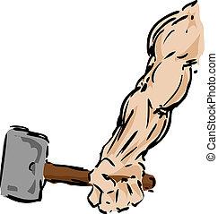 martillo, brazo