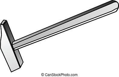 martillo, herramienta, construcción, -