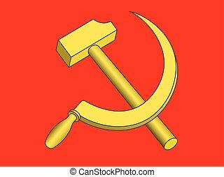 martillo, hoz, rojo