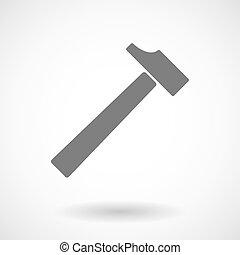 martillo, ilustración
