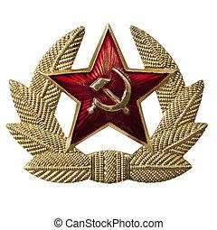 martillo, insignia, hoz