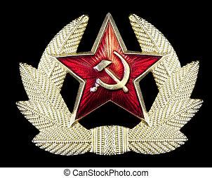 martillo, insignia, hoz, ruso