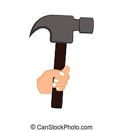 martillo, llevar a cabo la mano