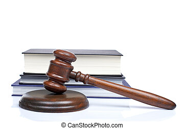 martillo madera, libros de ley