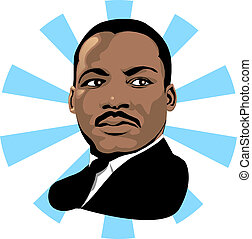 Martin Luther King 2 - Vector for Martin Luther King Day or...