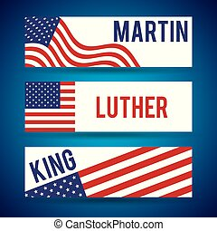 martin luther king banners flag usa decoration invitation